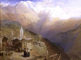 Valley of St. Nicolas, Monte Rosa Range c.1854  &