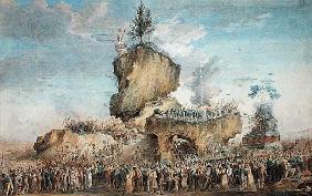 Festival of the Supreme Being at the Champs-de-Mars, 20 Priarial An II (8th June 1794) (pastel, goua