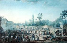 View of the Tuileries from the Place de la Revolution 1799  &