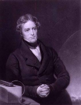 Portrait of Michael Faraday (1791-1867) engraved by Henry Cousins (d.1864)