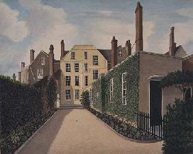 St. James' Square Bristol: View of the main house c.1805-06