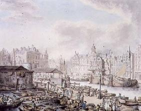 Feyge Dam and Part of the Fish Market, Amsterdam c.1794  &