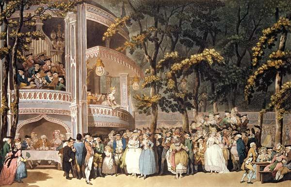 Vauxhall Gardens from Ackermann's 'Microcosm of London' 1809