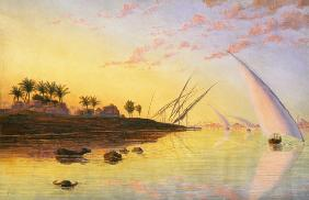View on the Nile 1855