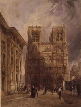 The Cathedral of Notre Dame, Paris 1836