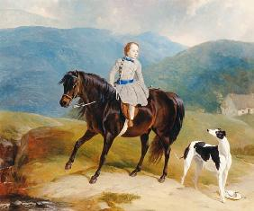 Master Edward Coutts Marjoriebanks on his Pony c.1851