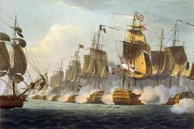 Battle of Trafalgar, October 21st 1805, from 'The Naval Achievements of Great Britain' by James Jenk 1644