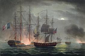 Capture of La Desiree, July 7th 1800, from 'The Naval Achievements of Great Britain' by James Jenkin 18th