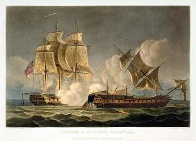 Capture of La Forte, February 28th 1799, engraved by Thomas Sutherland for J. Jenkins's 'Naval Achie 1689
