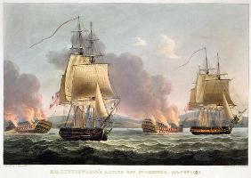 Sir J. T. Duckworth's Action off St. Domingo, February 6th 1806, engraved by Thomas Sutherland for J 1608