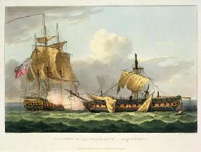 The Capture of La Vengeance, August 21st 1800, engraved by Thomas Sutherland for J. Jenkins's 'Naval 1608