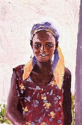 Malagasy Girl, 1989 (oil on canvas)
