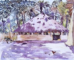 The Rotunda, Senegal, West Africa, 1997 (w/c on paper)