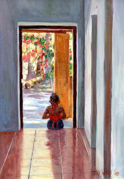 Through the Doorway, 2005 (oil on canvas)