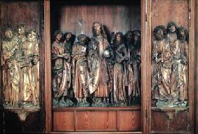 Windsheim Triptych depicting Christ with the twelve apostles