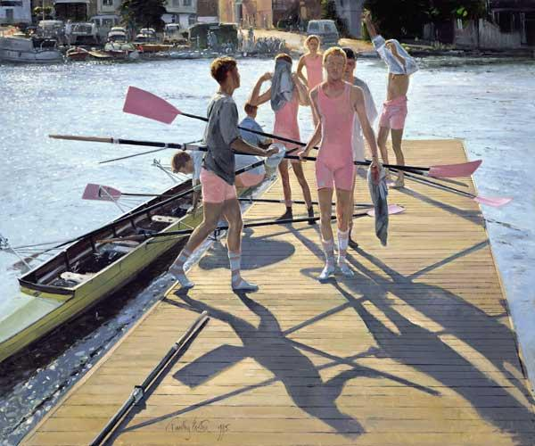 Blades and Shadows, Henley, 1995 (oil on canvas)