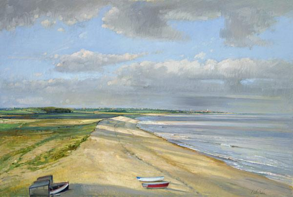 Shadowed Crescent, Dunwich (oil on canvas)
