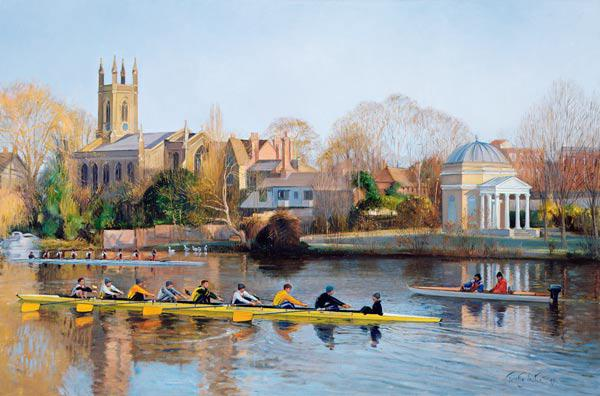 Winter Training at Hampton (oil on canvas)