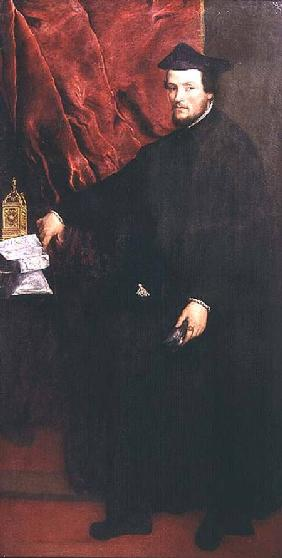 Portrait of Cristoforo Madruzzo, Cardinal and Bishop of Trent 1552
