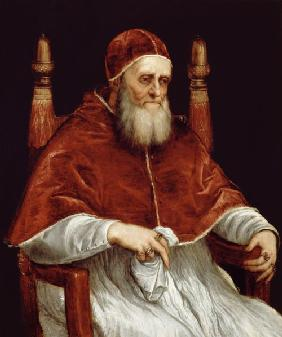 Pope Julius II (1443-1513) after a painting by Raphael c.1545-46