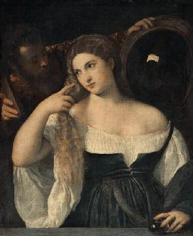 Portrait of a Woman at her Toilet 1512-15