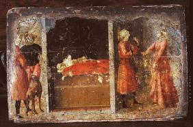 Life of St. Julian, predella fragment (tempera on panel) 17th