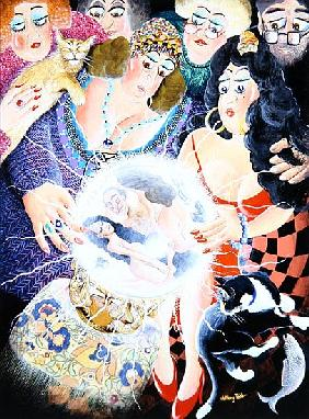 Mrs Dai Bread one and two crystal gaze and discover their husbands'' indiscretions, 2007 (acrylic on