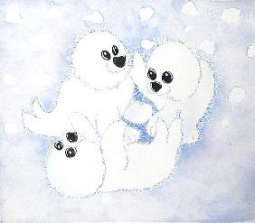 Snow Babies, 2005 (w/c on paper)