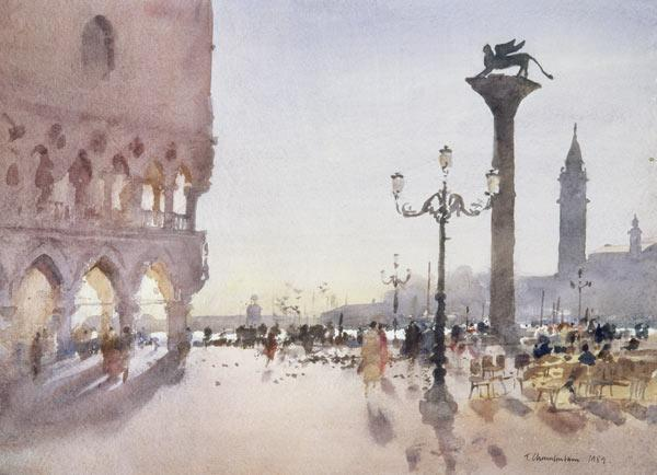 Early Morning, Piazzetta, Venice, 1989 (w/c on paper)
