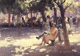 Under the trees, South Bank, 1990