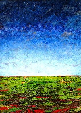 Horizon I, 2001 (oil on board)