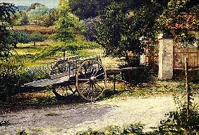 Old Cart, Vichy, France, 1998 (oil on canvas)