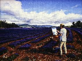 Painter, Vaucluse, Provence, 1998 (oil on canvas)