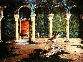 Roman Baths, Palma, Majorca, 1992 (oil on canvas)