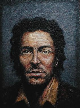 Springsteen (b.1949) (acrylic on straw board)