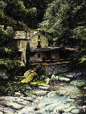 Watermill, Poretta, Tuscany, 1998 (oil on canvas)