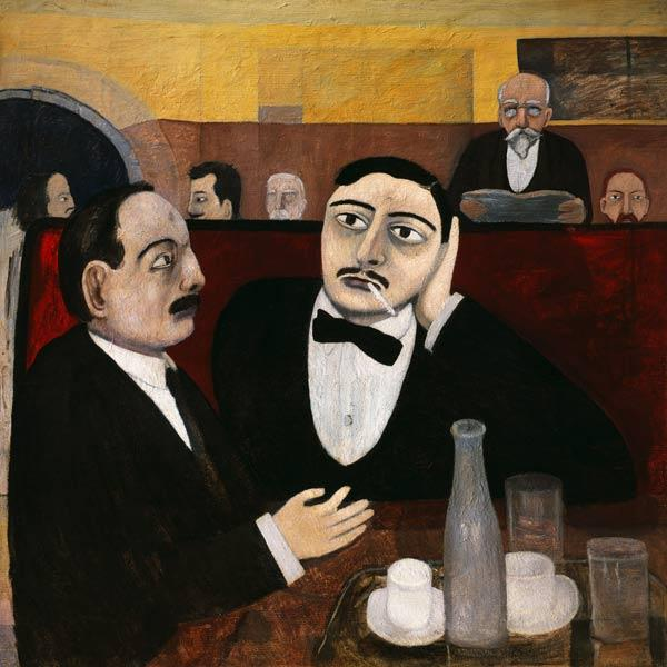 The Intellectuals at the Cafe Rotonde 1916
