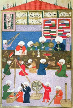 FY 1404 Takyuddin and other astronomers at the Galata observatory founded in 1557 by Sultan Suleyman c.1581