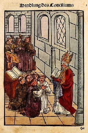 A scene from the Council of Constance, from ''Chronik des Konzils von Konstanz''