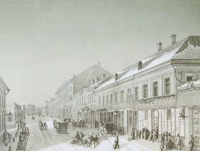 Die Kusnezki Most Strasse in Moskau