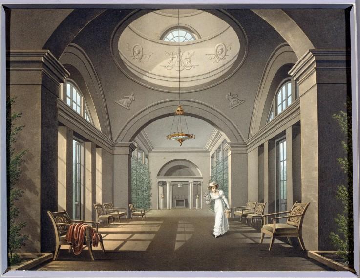 Interieur der Voliere im Schloß Pawlowsk - Unbekannter Künstler als ...