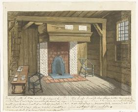 Interieur im Zar-Peter-Haus in Zaandam, 1697