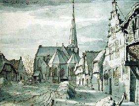 In front of the Church in Veghel 1676  and