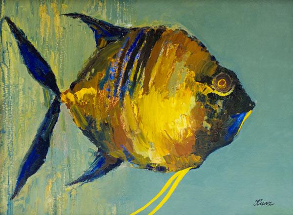 Fisch valentina kunz als kunstdruck oder handgemaltes for Fisch bilder