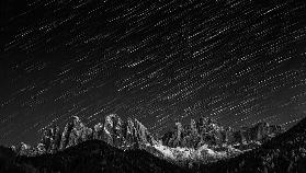 Starfall in the Dolomites
