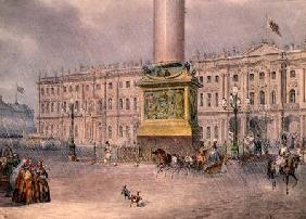Palace Square in St. Petersburg 1830s