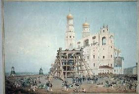 Raising of the Tsar-bell in the Moscow Kremlin in 1836 1839  on
