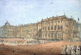 Review at the Winter Palace in St. Petersburg 1840s  on