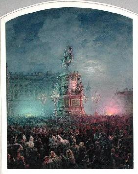 The Unveiling of the Nicholas I Memorial in St. Petersburg 1857