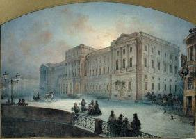 View of the Mariinsky Palace in Winter 1863